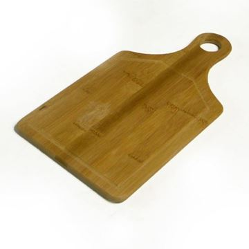 Picture of TAGLIERE IN BAMBU' CON FORO CM18X34